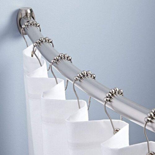 13 Rings Shower Curtain Hooks 100/% rustproof Stainless Steel