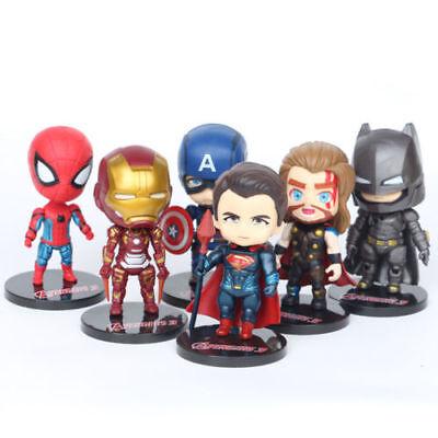Sinnvoll 6 Marvel Infinity War Action Figures Doll Cake Topper Car Decor Kids Playset Toy Weich Und Rutschhemmend