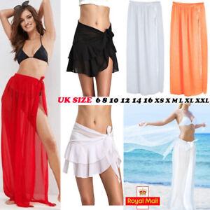 c144385d7e18d Womens Swim Wear Bikini Cover Up Sheer Beach Mini Wrap Skirt Sarong ...