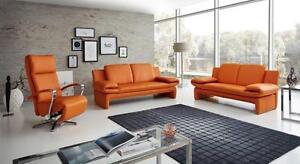Echt-Dick-Leder-Sofa-Couch-Garnitur-Funktionssofa-Capri-2-Sitzer-oder-3er-NEU