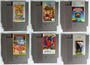 Lot-of-6-NES-Games-Bad-Dudes-Captain-Hawk-Flying-Dragon-Nintendo-Entertainment