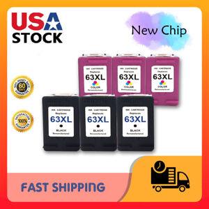 2P Black /& Color 63XL 63 XL Ink  for HP Deskjet 3630 3631 3632 3633 3634 3636