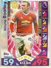 Match Attax 2016/17 Premier League -  PL2 Wayne Rooney - Player Legends