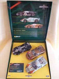 Scalextric Uk C2529a Ford Gt40 1966 Le Mans 3 Coffret Voiture Goodwood Edition Limitée