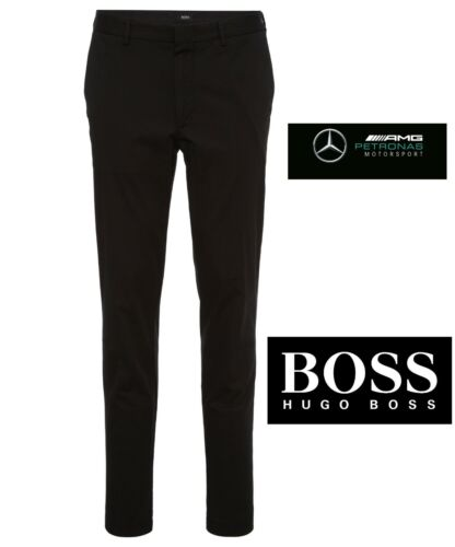 Mens Pants Suit Mercedes Fit Stretch Trousers Slim Hugo Black £179 F1 Boss Amg 1Uxg5qw