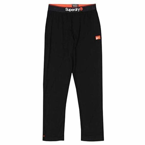 Homme Superdry Laundry Coton Bio Sweat Pantalon Pantalon Noir