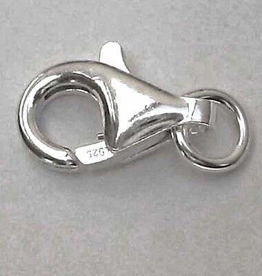 Karabinerhaken 925 Silber 9 mm 11 mm 13 mm Karabiner Verschlüsse Schmuckzubehör