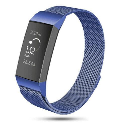 For Fitbit Charge 3 4 Strap Replacement Milanese Band Stainless Steel Magnet UK
