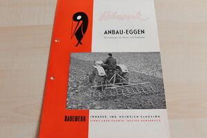 FleißIg 144611 Anbau-eggen Für Schlepper Rabewerk Prospekt 01/1957
