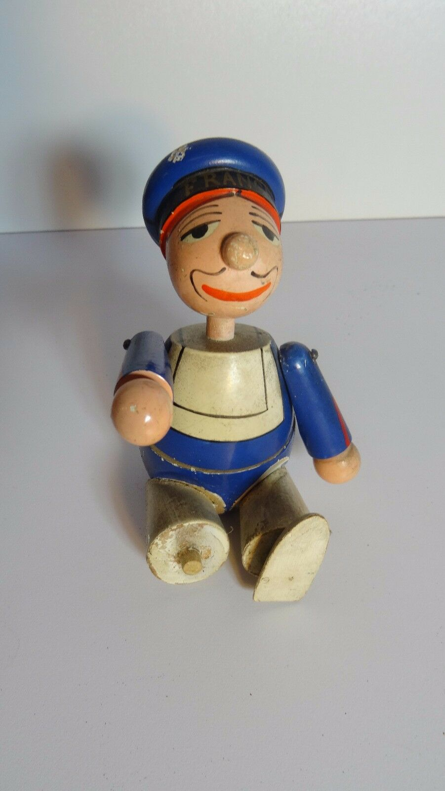 The France - Figurine Sailor Articulated Subject Wood Polychrome