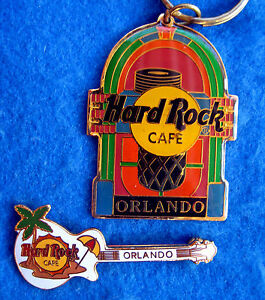 Orlando-Wurlitzer-Jukebox-Portachiavi-amp-Gibson-Palma-Albero-Chitarra-Hard-Rock-A
