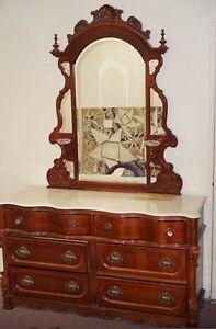 Beautiful Solid Oak wood Vintage Dark Brown Bedroom Furniture set ...