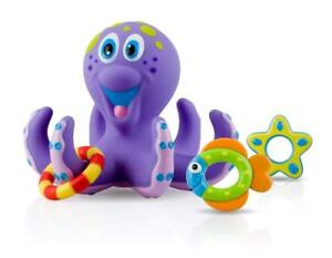 Baby-Toy-Bath-Nuby-Octopus-Floating-Tub-3-Rings-Toss-Toddler-Child-Gift-Fun-Play