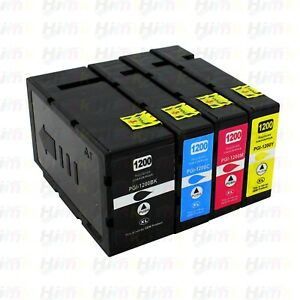 4PK-PGI-1200XL-High-Yield-Ink-For-Canon-Maxify-MB2020-MB2120-MB2320-MB2720