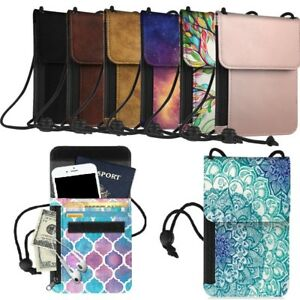 Passport-Holder-Neck-Pouch-RFID-Blocking-Case-Premium-PU-Leather-Travel-Wallet