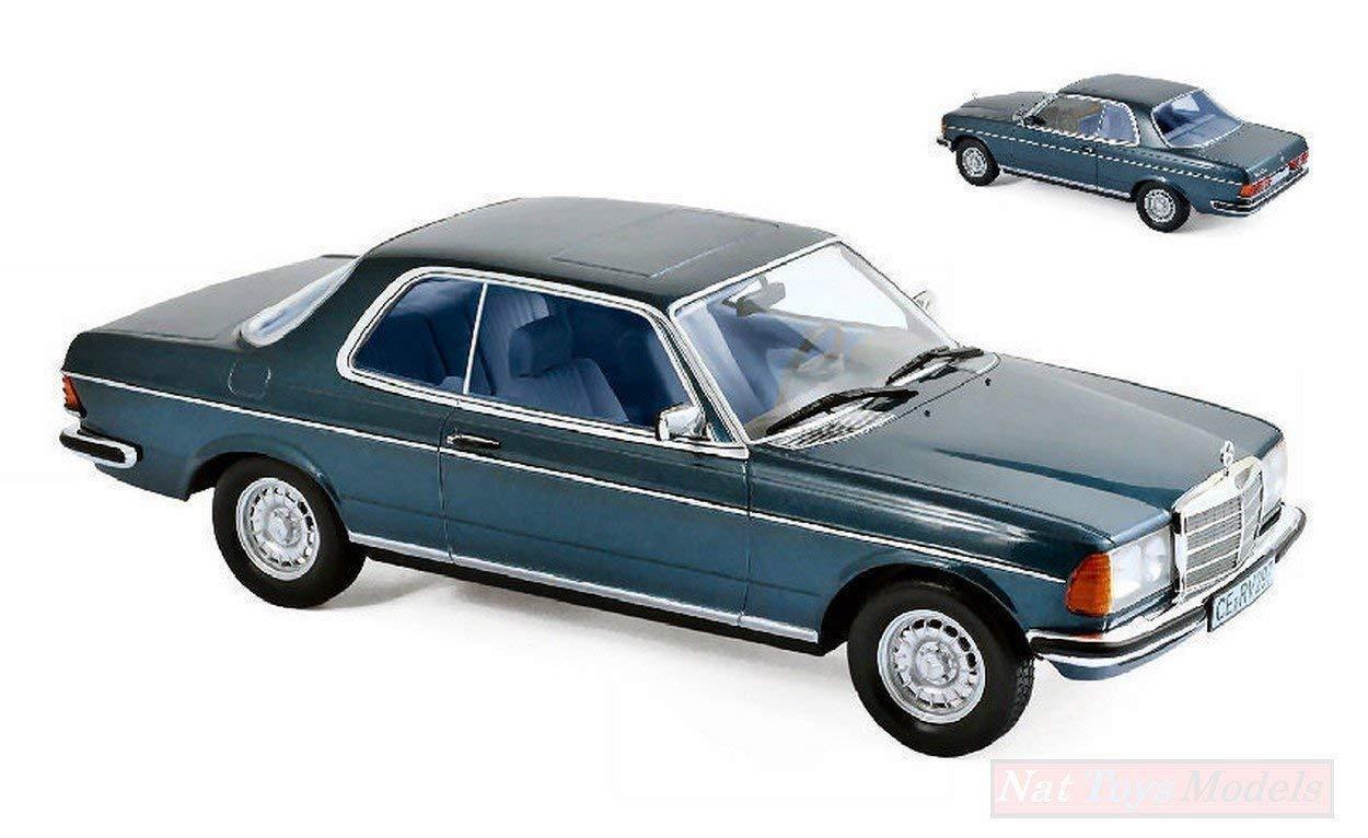 Norev 183589. Coche colección. Mercedes 280 CE 1980 azul metálico. Escala 1 18