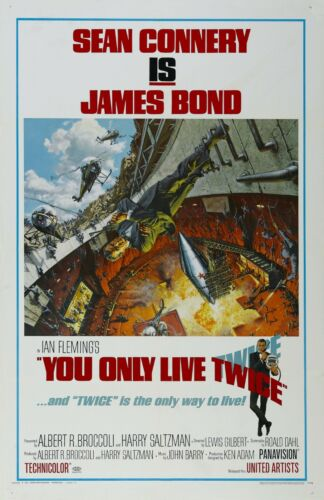 "You Only Live Twice Movie Silk Fabric Poster 27/""x40/"" 1967"