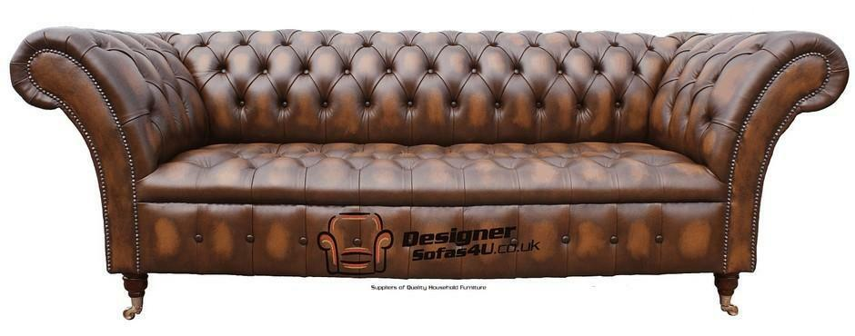 Prime Details About Chesterfield Balmoral 3 Seater Buttoned Seat Antique Tan Sofa Settee Home Interior And Landscaping Dextoversignezvosmurscom