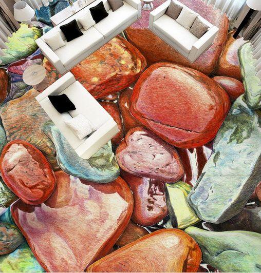 3D pittura pietra Pavimento Foto Wallpaper Murales Muro Stampa Decalcomania