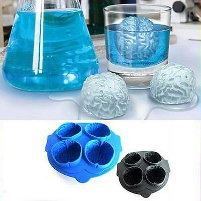 Drink Tray Brain Shape Ice Cube Freeze Mold Silicone Party Halloween Bar Maker W