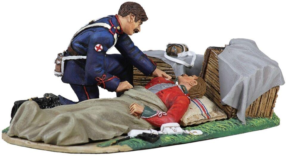 Britains Anglo Zulu Krieg 20121 Britisch 24TH Fuß Liegend Verwundet mit Ahc MIB