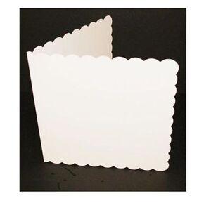 50-x-C6-WHITE-SCALLOPED-BLANK-CARDS-300gsm-amp-ENVELOPES-CARD-MAKING-CRAFT-837