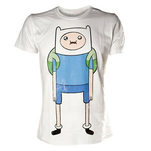 Official-Adventure-Time-With-Finn-Human-White-Vintage-Print-Short-Sleeved-Tshirt