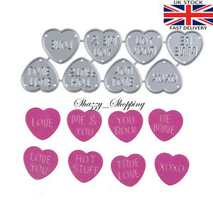 8-Love-Heart-sweet-dies-metal-cutting-die-cutter-UK-seller-Fast-Posting