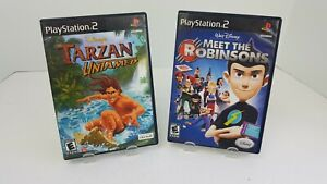 Tarzan-Untamed-amp-Meet-The-Robinsons-Disney-Lot-of-Sony-Playstation-2-PS2-Games