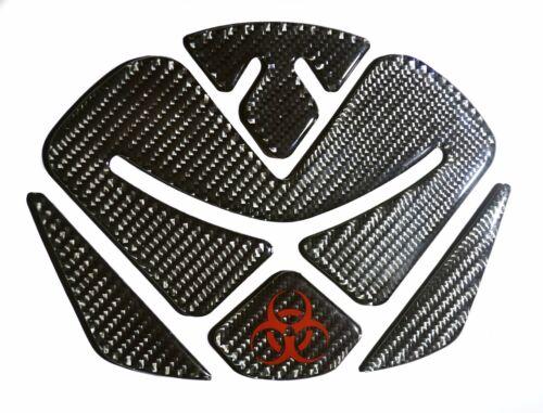 Bio-hazard logo Carbon Fiber Motorcycle Tank Protector Pad for Ducati Diavel