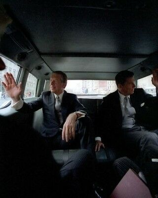 Ronald Reagan and Jimmy Carter in Presidential limousine ...