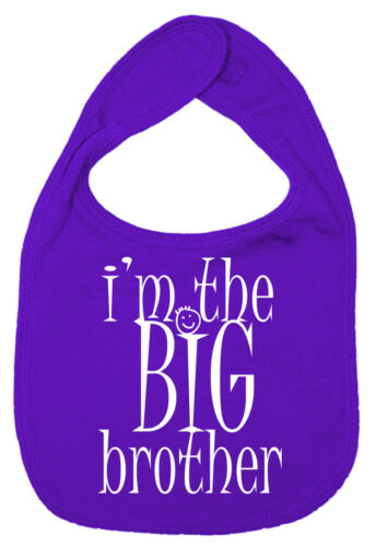 """Brother Baby Bib /""""I/'m the Big Brother/"""" Funny Cute Gift"""