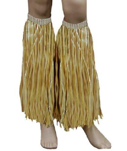 Ladies Girls Hawaiian Beach Fancy Dress Party Hula Straw Skirt Bra Leg Cuffs Lei