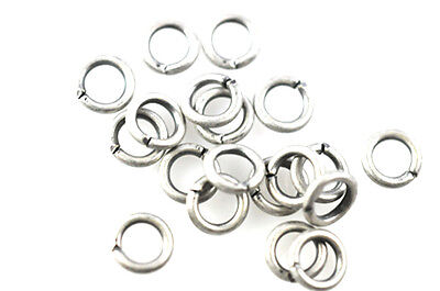 100 Antique Silver Open Jump Rings 5MM 18 Gauge