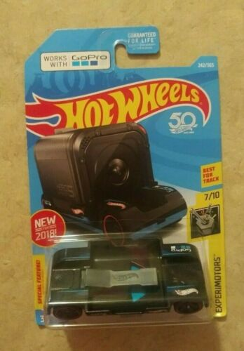 NEW 2018 Hot Wheels 50th Go Pro Car Zoom In Hotwheels GoPro Adaptable Camera