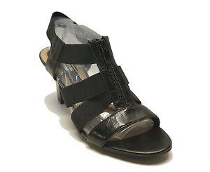 1ec454f5566 Image is loading Naturalizer-89-Black-Leather-N5-Comfort-Sandals-Yazmin-