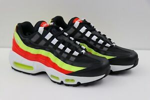 Details about Nike Air Max 95 Black Volt Habanero Red Running scarpa 307960 019 Womens Size 7