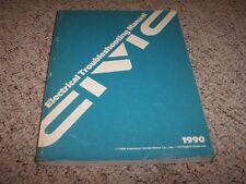 1990 Honda Civic Electrical Wiring Diagram Manual EX LX DX Si