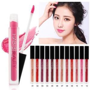 Waterproof-Beauty-Makeup-Lip-Liquid-Pencil-Matte-Lipstick-Lip-Gloss-12-Colors-DX