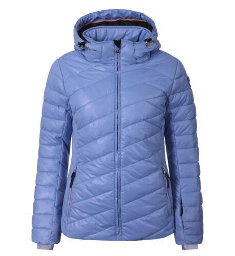 blau gefüttert Kapuze Daunenjacke Skijacke Damenjacke ICEPEAK CELESTE warm