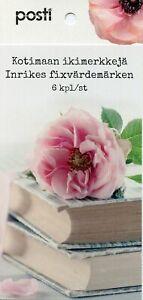 Finlande-2019-neuf-sans-charniere-le-dire-avec-des-fleurs-Tulipes-roses-6-V-S-Un-livret-Flora