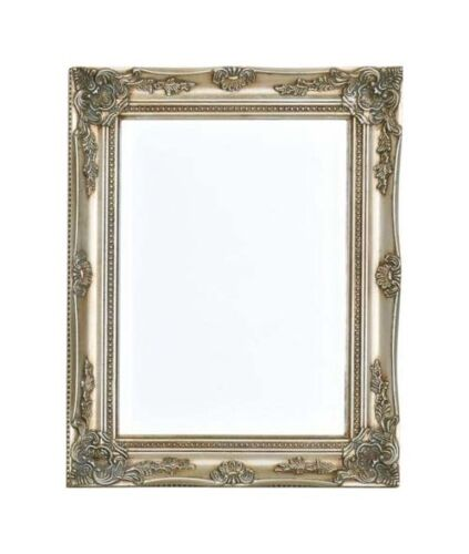 Facettenschliff 40x50 SILBER Opulenter Prachtvoller Wandspiegel Barockspiegel m