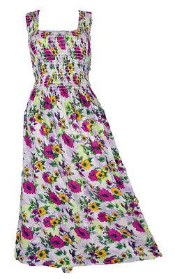 100% Cotton Long Boho Maxi Dress Party Evening Size 14 16 18 20 22 24 April Modische Und Attraktive Pakete Kleider
