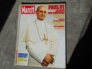 Paris Match 1525 1978 Paul VI Empain Pape - France - État : Trs bon état: Livre qui ne semble pas neuf, ayant déj été lu, mais qui est toujours en excellent état. La couverture ne présente aucun dommage apparent. Pour les couvertures rigides, la jaquette (si applicable) est incluse. Aucune p - France