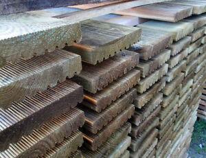 Decking in legno 28x146x1000 mm. parquet esterno in pino impregnato ...
