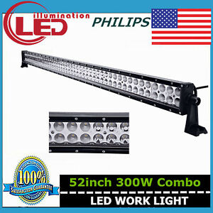 Philips-Slim-52Inch-300W-LED-Work-Light-Bar-Combo-Offroad-4WD-RZR-UTE-Jeep-51-50
