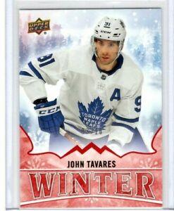 JOHN-TAVARES-2019-Upper-Deck-Winter-Rare-Red-Parallel-10-Toronto-Maple-Leafs