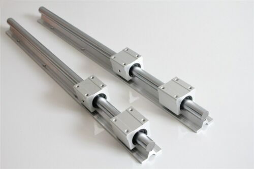 SBR16 L300-1500mm 2x Linear Rail Guide+4x SBR16UU Bearing Block Slotted Bearings