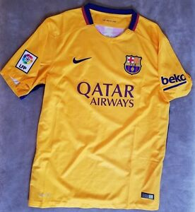 timeless design 4bc71 7bfd7 Details about NIKE Barcelona Jersey FC Home Kit Shirt NEW Messi Team Soccer  Football LARGE