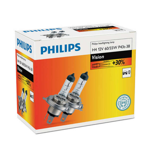 PHILIPS H4 VISION 12V60/55W P43t-38 C2